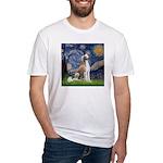 Starry Night / Saluki Fitted T-Shirt