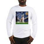 Starry Night / Saluki Long Sleeve T-Shirt