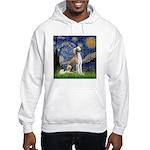 Starry Night / Saluki Hooded Sweatshirt