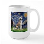 Starry Night / Saluki Large Mug