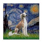 Starry Night / Saluki Tile Coaster