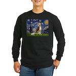 Starry Night / Saluki Long Sleeve Dark T-Shirt