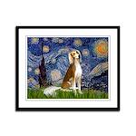 Starry Night / Saluki Framed Panel Print