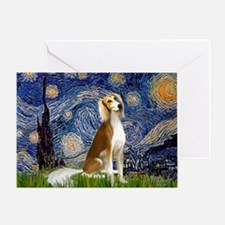 Starry Night / Saluki Greeting Card