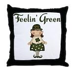 Feeling Green Throw Pillow