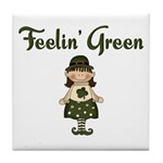 Feeling Green Tile Coaster
