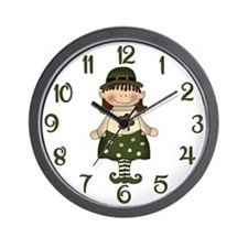 Feeling Green Wall Clock