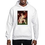 Seated Angel / Saluki Hooded Sweatshirt