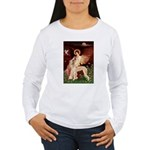 Seated Angel / Saluki Women's Long Sleeve T-Shirt