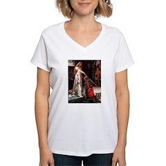 Accolade / Saluki Women's V-Neck T-Shirt