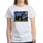 Starry Night / Schnauzer Women's T-Shirt