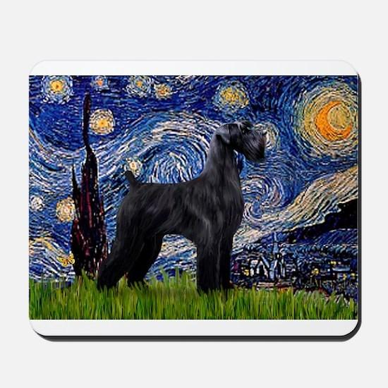 Starry Night / Schnauzer Mousepad