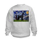 Starry Night / Schnauzer Kids Sweatshirt