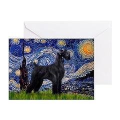 Starry Night / Schnauzer Greeting Cards (Pk of 10)