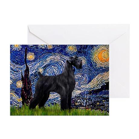 Starry Night / Schnauzer Greeting Cards (Pk of 20)