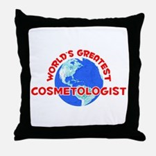 World's Greatest Cosme.. (F) Throw Pillow