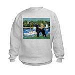SCHNAUZER & SAILBOATS Kids Sweatshirt