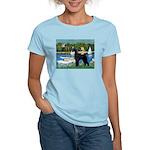 SCHNAUZER & SAILBOATS Women's Light T-Shirt