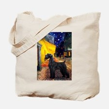 Cafe & Giant Schnauzer Tote Bag