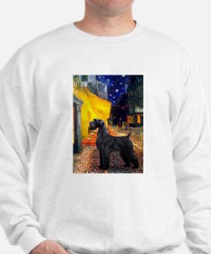 Cafe & Giant Schnauzer Sweatshirt