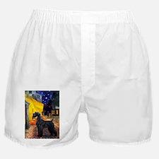 Cafe & Giant Schnauzer Boxer Shorts
