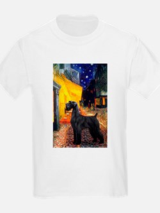 Cafe & Giant Schnauzer T-Shirt