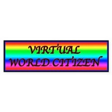 Virtual World Bumper Bumper Sticker