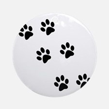 Walk-On-Me Pawprints Ornament (Round)
