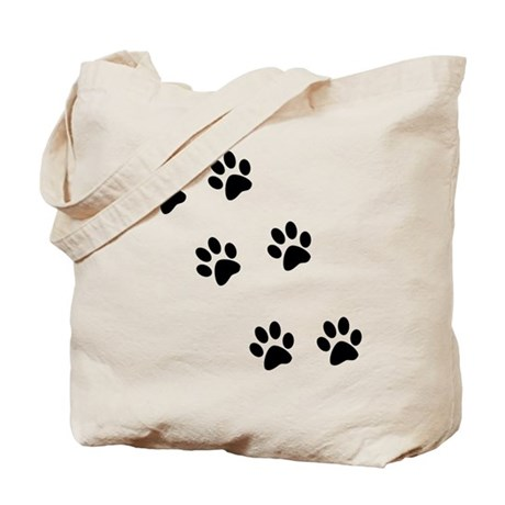 Walk-On-Me Pawprints Tote Bag