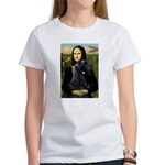 Mona Lisa /giant black Schnau Women's T-Shirt