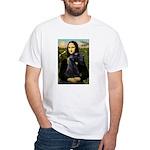 Mona Lisa /giant black Schnau White T-Shirt