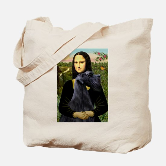 Mona Lisa /giant black Schnau Tote Bag