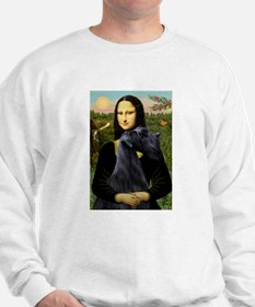 Mona Lisa /giant black Schnau Sweatshirt