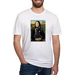 Mona Lisa /giant black Schnau Fitted T-Shirt
