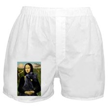 Mona Lisa /giant black Schnau Boxer Shorts