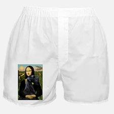 Mona Lisa /giant black Schnau Boxer Shorts