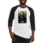 Mona Lisa /giant black Schnau Baseball Jersey