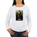 Mona Lisa /giant black Schnau Women's Long Sleeve