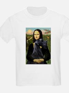 Mona Lisa /giant black Schnau T-Shirt