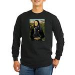 Mona Lisa /giant black Schnau Long Sleeve Dark T-S