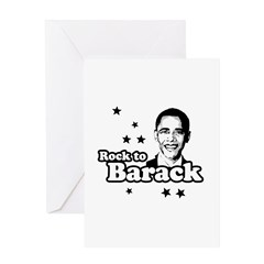 Rock to Barack Greeting Card