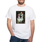 Ophelia's Schnauzer White T-Shirt