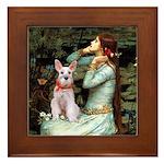 Ophelia's Schnauzer Framed Tile