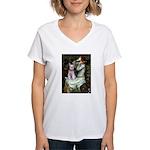 Ophelia's Schnauzer Women's V-Neck T-Shirt