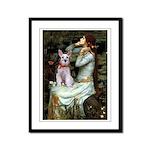 Ophelia's Schnauzer Framed Panel Print
