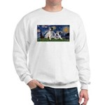 Starry Night / Min Schnauzer Sweatshirt
