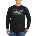 Starry Night / Min Schnauzer Long Sleeve Dark T-Sh