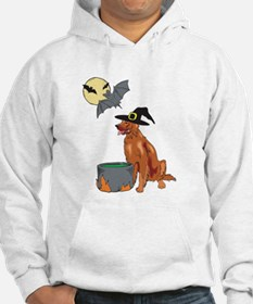 Irish Setter Witch Halloween Hoodie