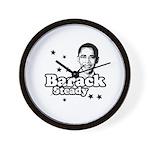 Barack Steady Wall Clock