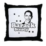 Barack Steady Throw Pillow